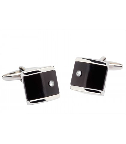 SQUARE ENAMEL CUFFLINKS...