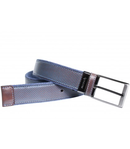 BELT IN BICOLOR CANVAS AND...